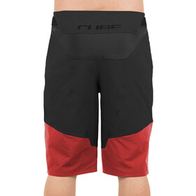 Cube Edge Baggy Shorts Men red